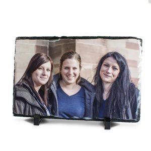 Schiefertafel mit Fotodruck