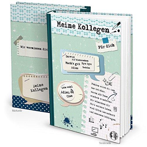 Abschiedsbuch f r kollegen hochwertiges erinnerungsbuch for Abschiedsgeschenk rente