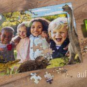 Dino Puzzle mit deinem Foto