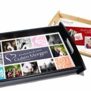 personalisierte Tablett. Ein Tablett mit Wunschfoto
