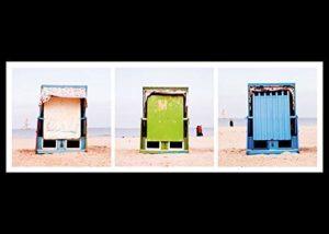 Magnet Schlüsselbrett mit Ostsee Strandkörben