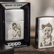 Original Zippo mit Foto-Gravur