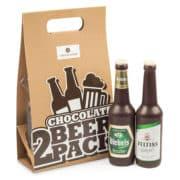 Bierflaschen aus Schokolade