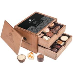 Chocolaterie - Pralinen in Schubladenbox