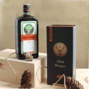 Kräuterlikor in persönlicher Geschenkbox