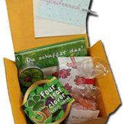 Glückwunschbox mit Snacks