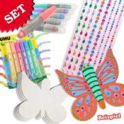 Schmetterlinge Bastelset für Kinder