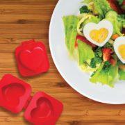 Eierform im Herzformat