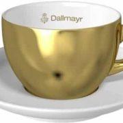 Goldene Cappuccinotasse