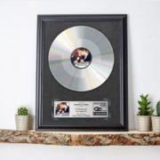 Silberne Schallplatte zur Hochzeit