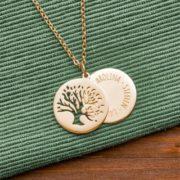 Halskette im Baumdesign