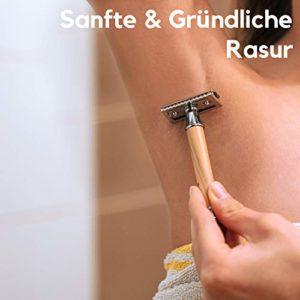 Sanfte und gründliche Rasur