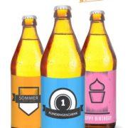 selbstgestaltete Bierflaschen