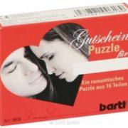 romantisches Gutscheinpuzzle