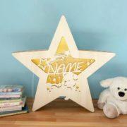 Leuchtstern mit Wunschnamen