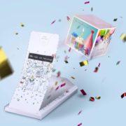 «BOOM!»Happy Birthday Karte mit Wumms-Effekt Explosion Grußkarte - Alles Gute zum Geburtstag! Geburtstagskarte mit Konfetti Wow-Effekt surprise explosion box für Frau Mann Kollegen, Kinder.