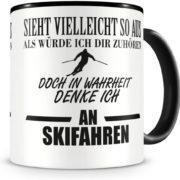 Tasse für Skifahrer
