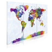 Weltkarte in Wasserfarben-Style