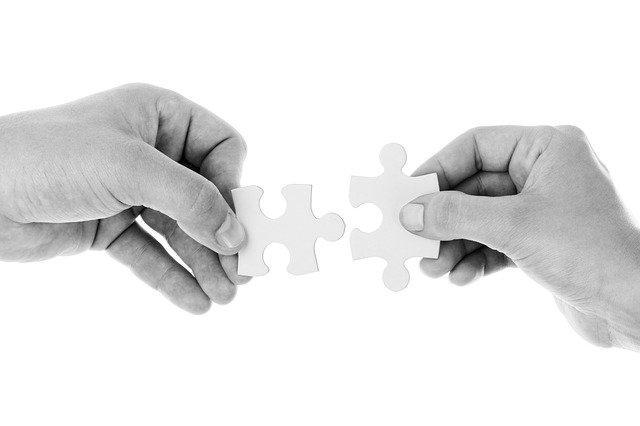 Puzzlebild: Wir passen zusammen