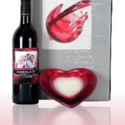 Geschenkset Wein mit Herz