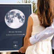 Personalisiertes Mondposter des Moments deines Lebens!