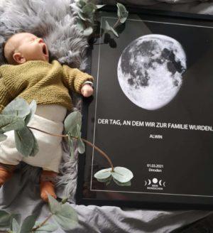 Persönliches Mondposter zur Geburt!