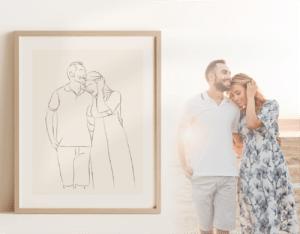 Kunstwerk vom Paar als Geschenkidee
