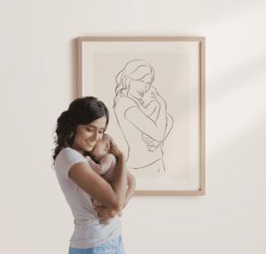 Du und dein Baby als Kunstwerk
