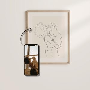 Du und dein Hund als Kunstwerk