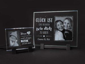 Liebevolle Glaskachel mit deinem Foto