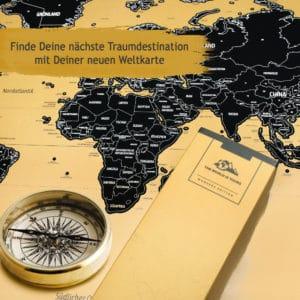 Weltkarte für alle die gerne Reisen