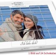 Fotopuzzle aus Schoko-Täfelchen