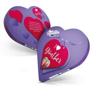 personalisiertes Milka-Herz